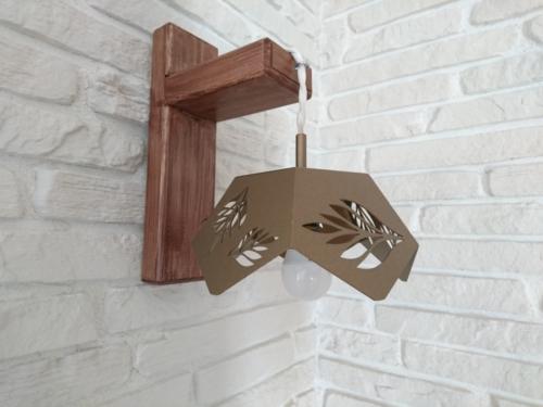 Настенный светильник из листового металла. Лазерная резка и гибка.